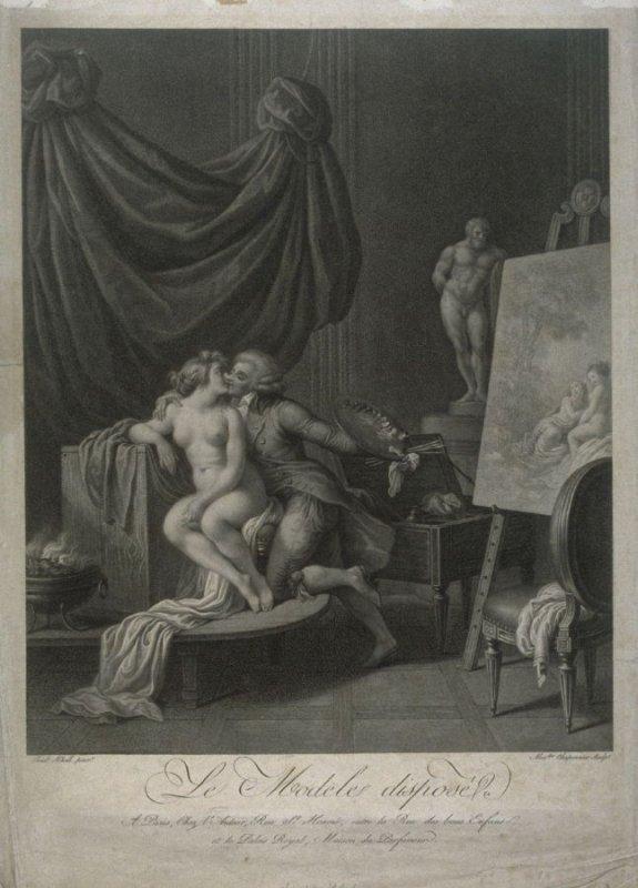 Schall 1790 Le Modele dispose gravure Chaponnier