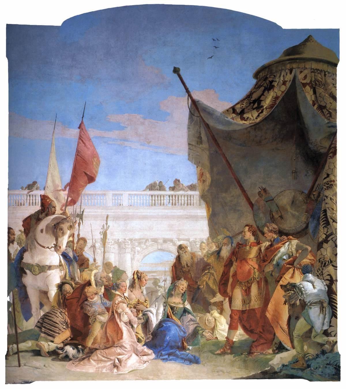 Tiepolo. 1743. Family of Darius before Alexander. Fresco. Villa Cordellina. Montecchio Maggiore