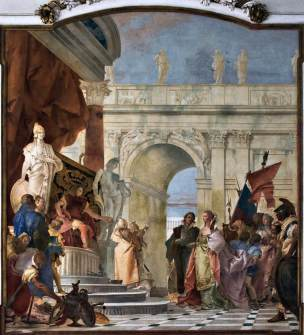 Tiepolo. 1743. The Magnanimity of Scipio Fresco. Villa Cordellina. Montecchio Maggiore