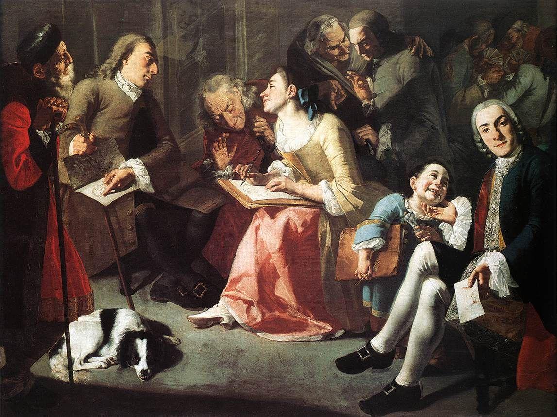 Traversi 1755-1760 La lecon de dessin Nelson Atkins Museum Dallas