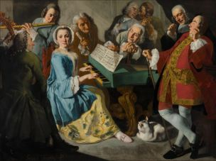Traversi 1755-1760 La lecon de musique Nelson Atkins Museum Dallas
