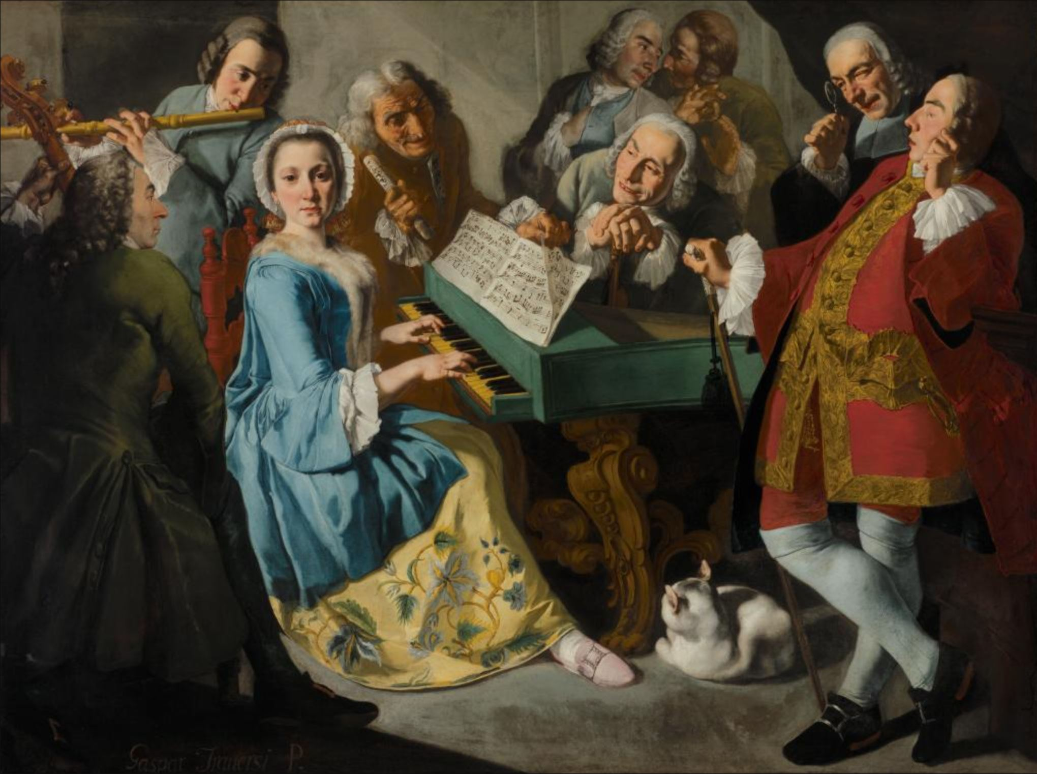 Traversi 1755-1760 La lecon de musique Nelson Atkins Museum Dallas
