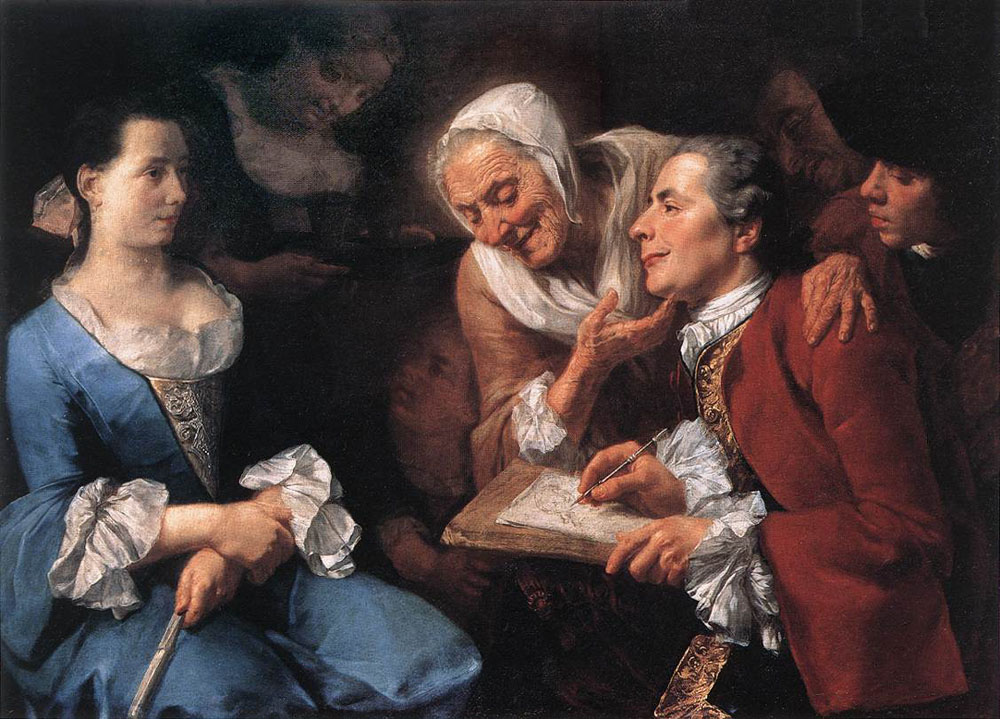 Traversi La seance de pose 1754 Louvre