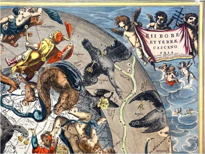 VERMEER_L'astronome 1668 Louvre detail carte voie lactee