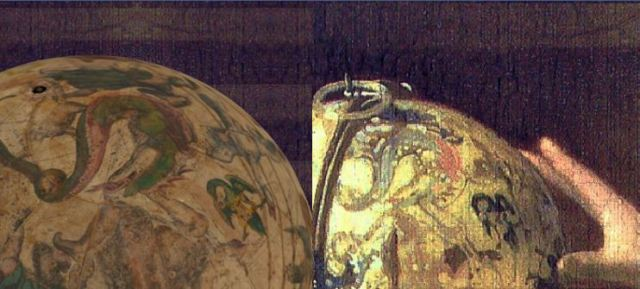 VERMEER_L'astronome 1668 Louvre detail globe