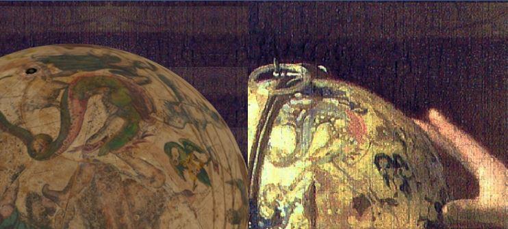 VERMEER_L'astronome 1668 Louvre detail globe