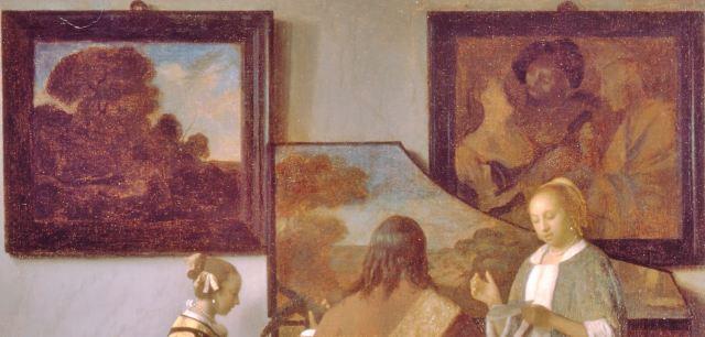 Vermeer 1663–66 The_Concert Vole en 1990 au Musee Isabella Stewart Gardner, Boston detail
