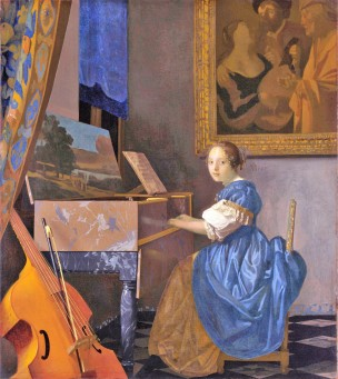 Vermeer 1670-1672 Jeune femme au virginal National Gallery