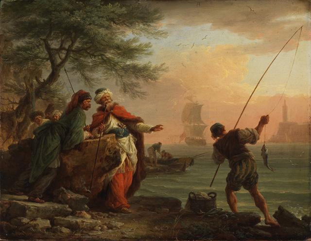 Vernet-1757-Vornehme-Türken-beim-Fischfang-zusehend-Kunsthalle-Karlsruhe