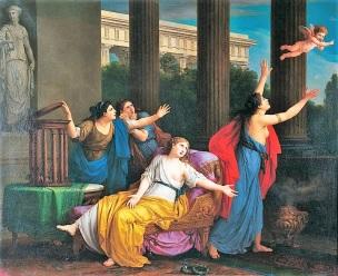 Vien 1789 L Amour fuyant l esclavage inverse