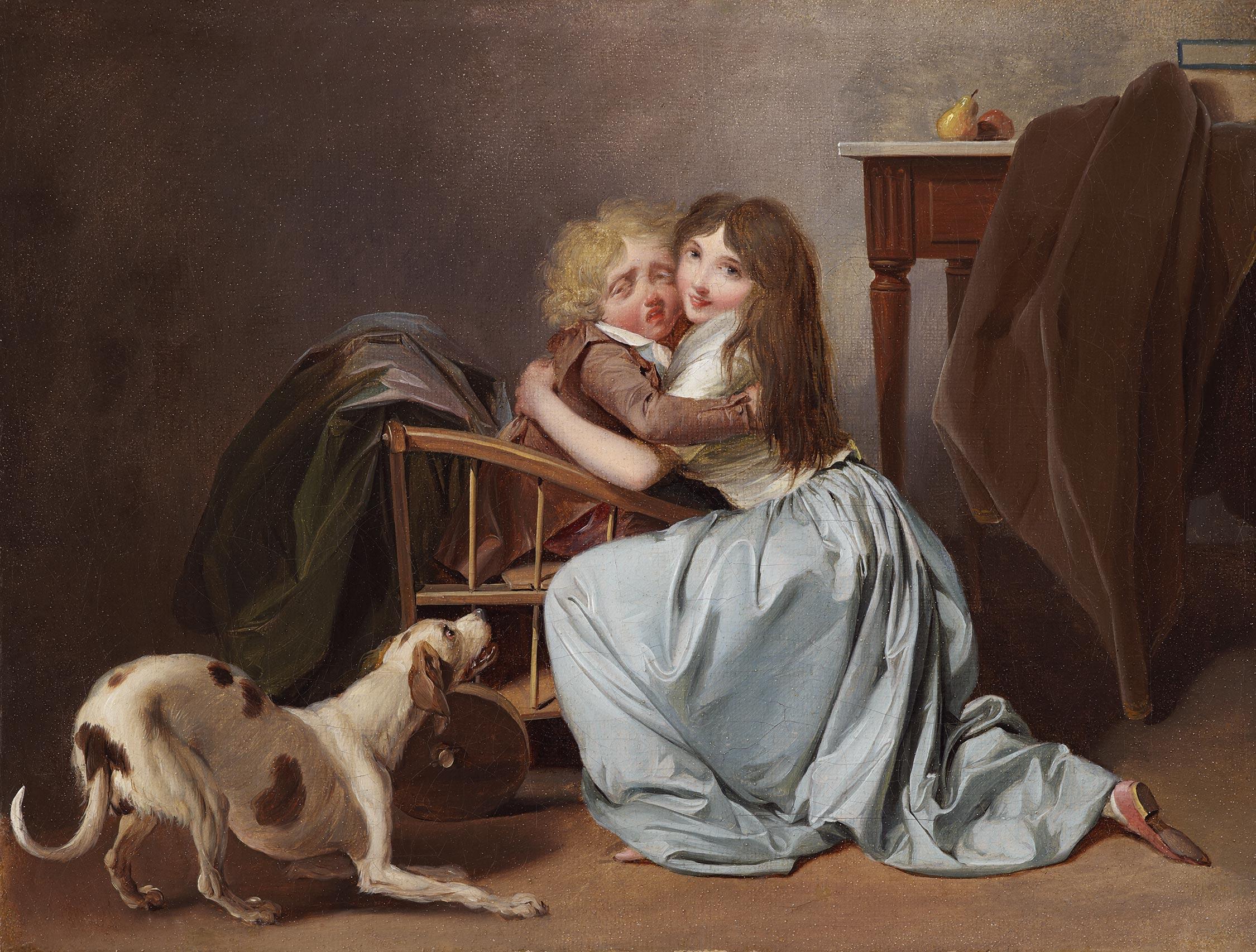 boilly 1785 ca La crainte mal fondee coll part