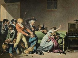 boilly 1804 seconde scene-de-voleurs (les voleurs arretes)