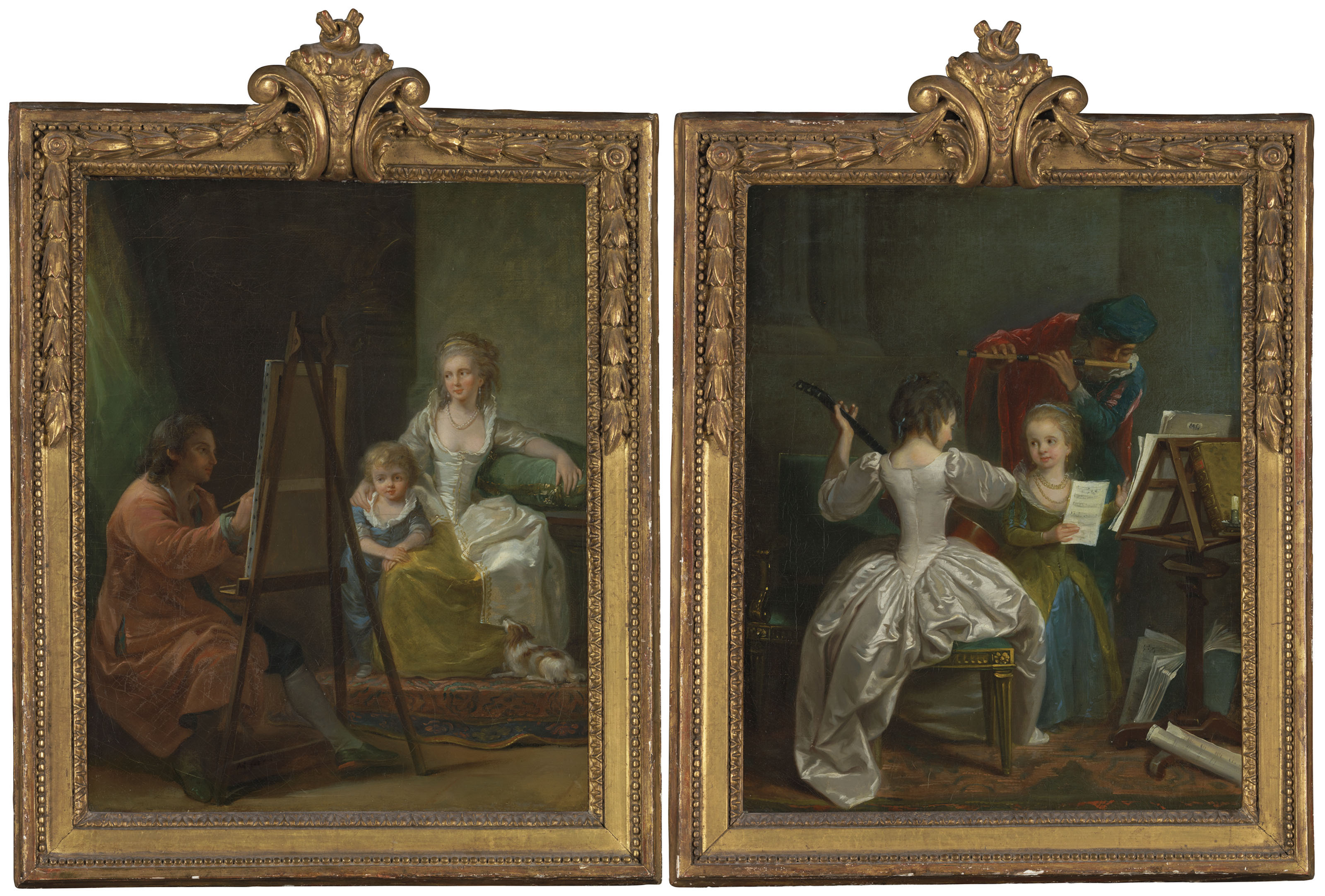 circle_of_michel_garnier_the_artists_family_and_the_musicians_family coll privee