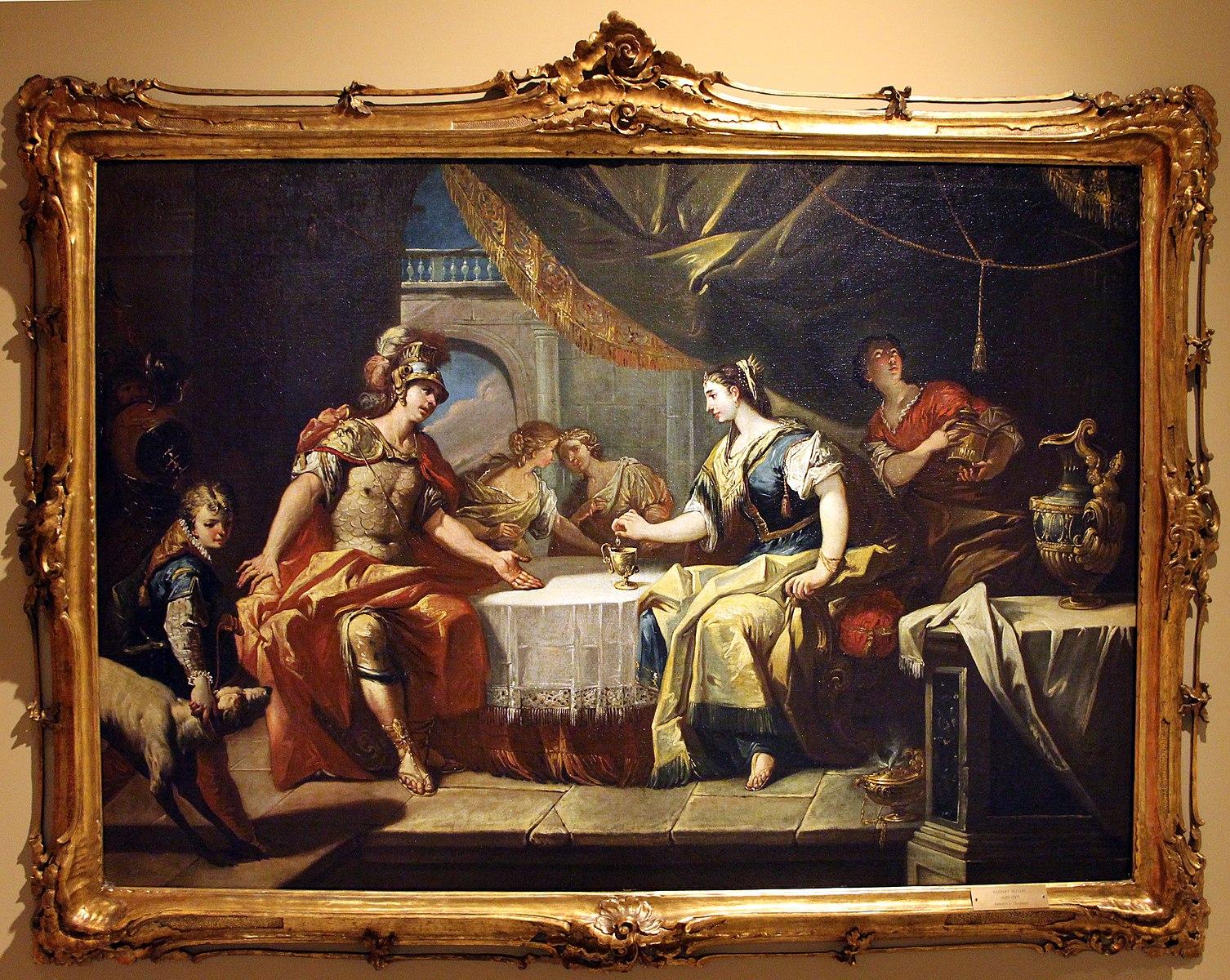 diziani Gaspare 1745 ca Antoine et Cleopatre Museo civico (Prato),