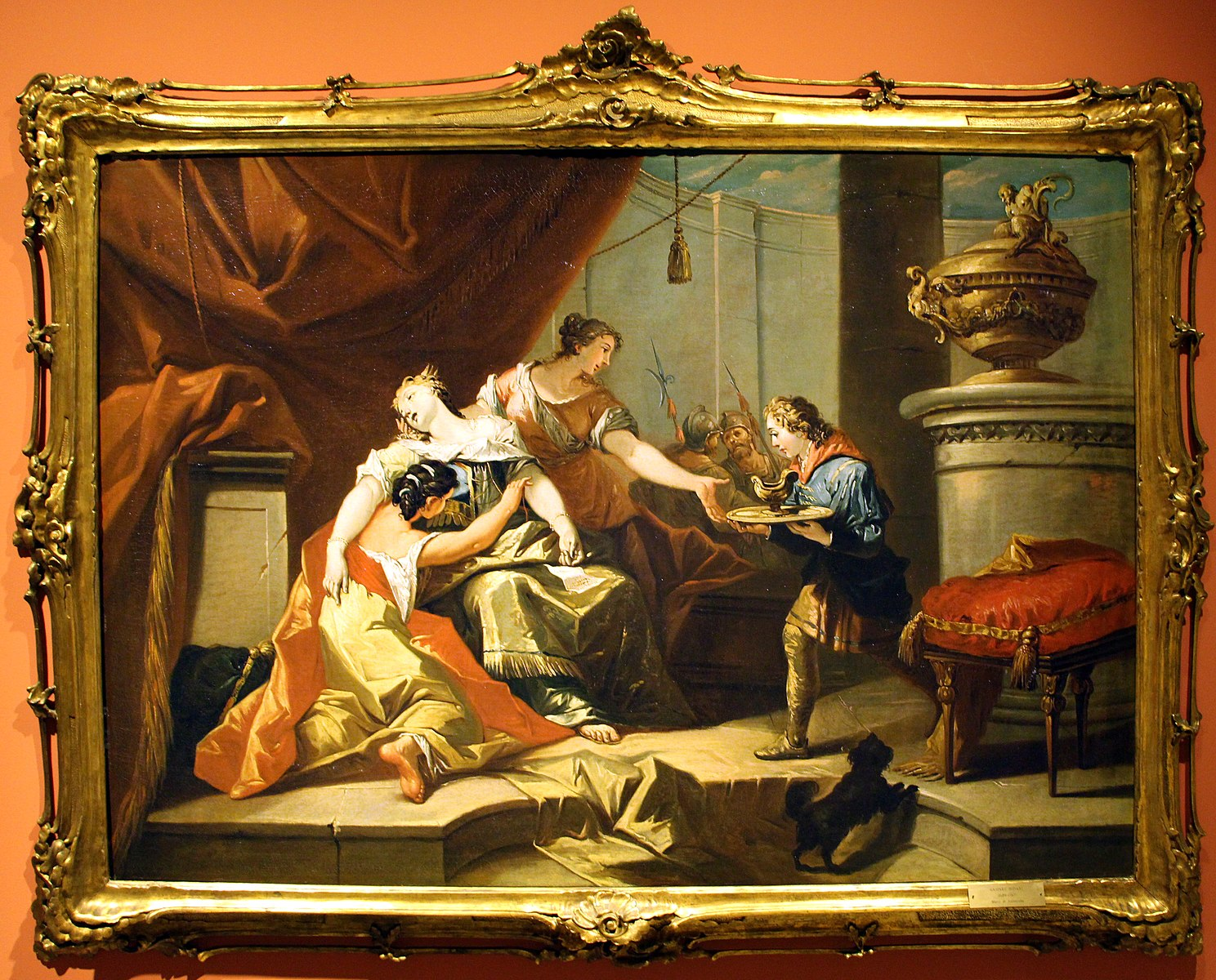diziani Gaspare 1745 ca sofonisba reçoit le poison envoyé par massinissa Museo civico (Prato),