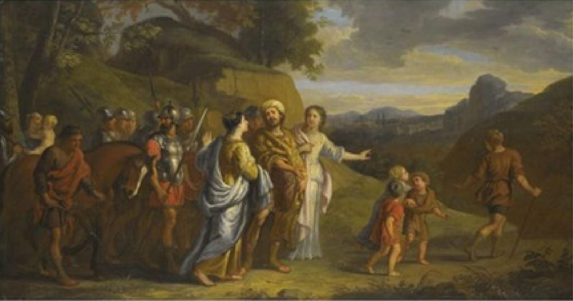 erasmus-quellinus-le jeune 1640-60 Coriolan implore d'epargner Rome coll priv