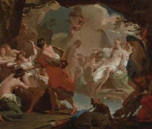 gandolfi Gaetano 1788-90 Diane et Callisto esquisse
