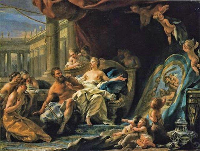 halle Hercule et Omphale Les dangers de l'amour hercule-omphale Salon de 1759 Musee de cholet
