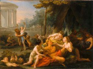halle Les dangers de l'ivresse bacchanale Salon de 1759 Musee de cholet