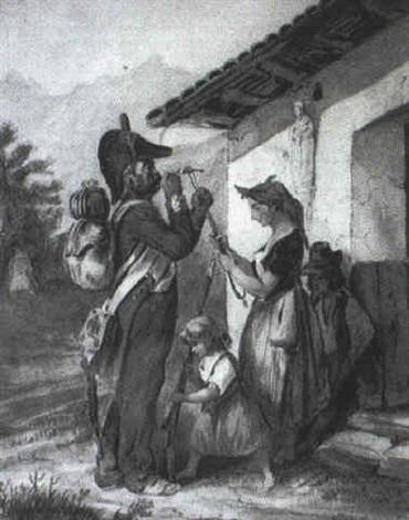 hippolyte-bellange 1828 le-depart-du-soldat