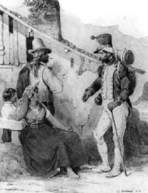 hippolyte-bellange 1828 le-retour-du-soldat