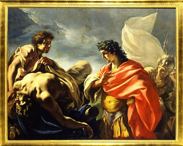 pellegrini (Giovanni Antonio) Achille contemplant le corps de Patrocle vers 1700 soissons