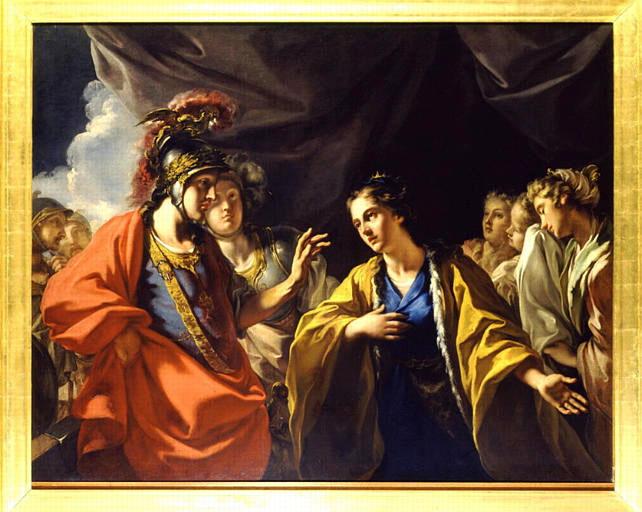 pellegrini (Giovanni Antonio) La Clemence d'Alexandre devant la famille de Darius vers 1700. soissons