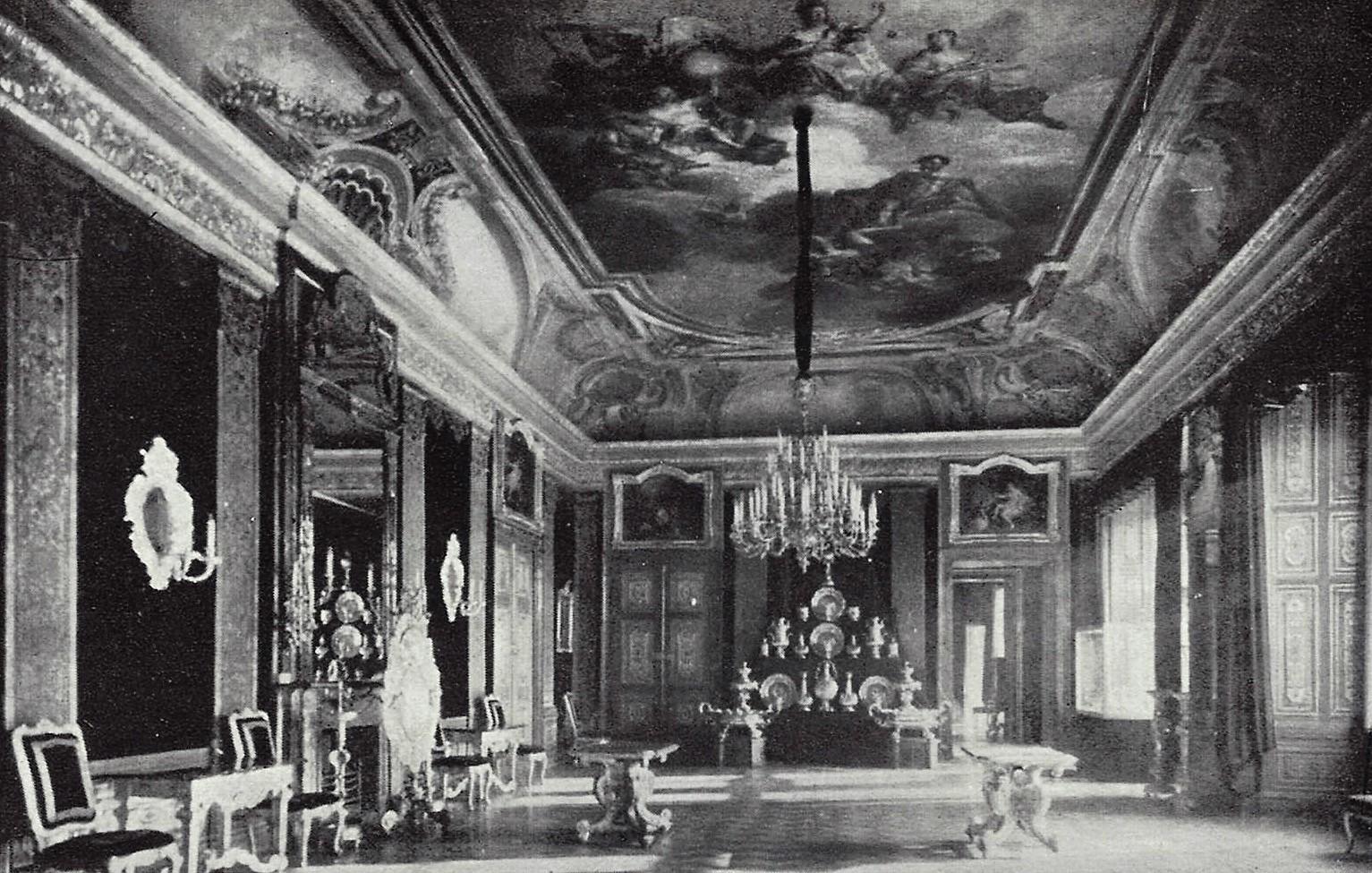 salle du trone d'Auguste II 1933