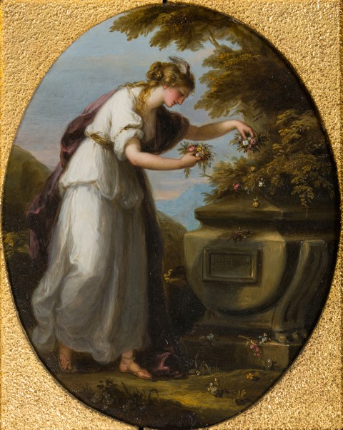 Angelica Kauffman 1772 Fame Decorating Shakespeare's Tomb Burghley House