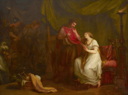 Diomed and Cressida (from William Shakespeare¿s `Troilus and Cressida¿, Act V, scene ii) by Angelica Kauffman RA (Chur 1741 ¿ Rome 1807)