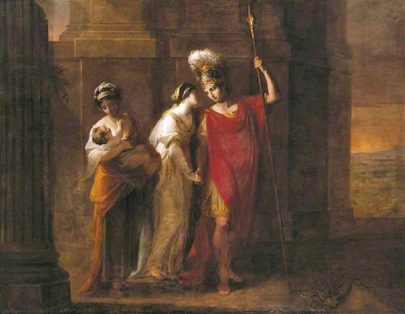 Angelica Kauffmann 1768 Hector faisant ses adieux a Andromaque Saltram, Devon (c) National Trust