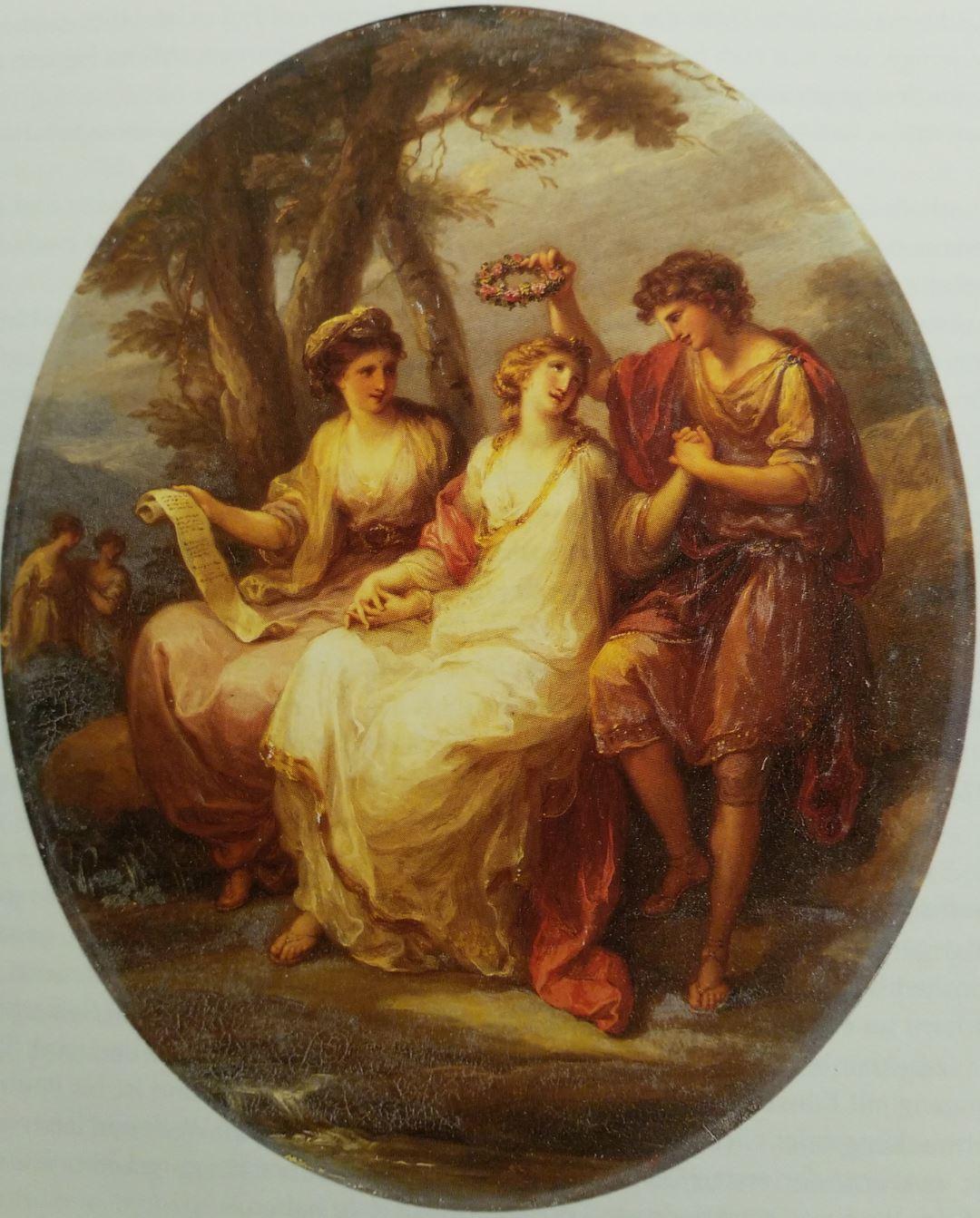 Angelica Kauffmann 1770 La Beaute entre la Posésie et l'Honneur coll priv