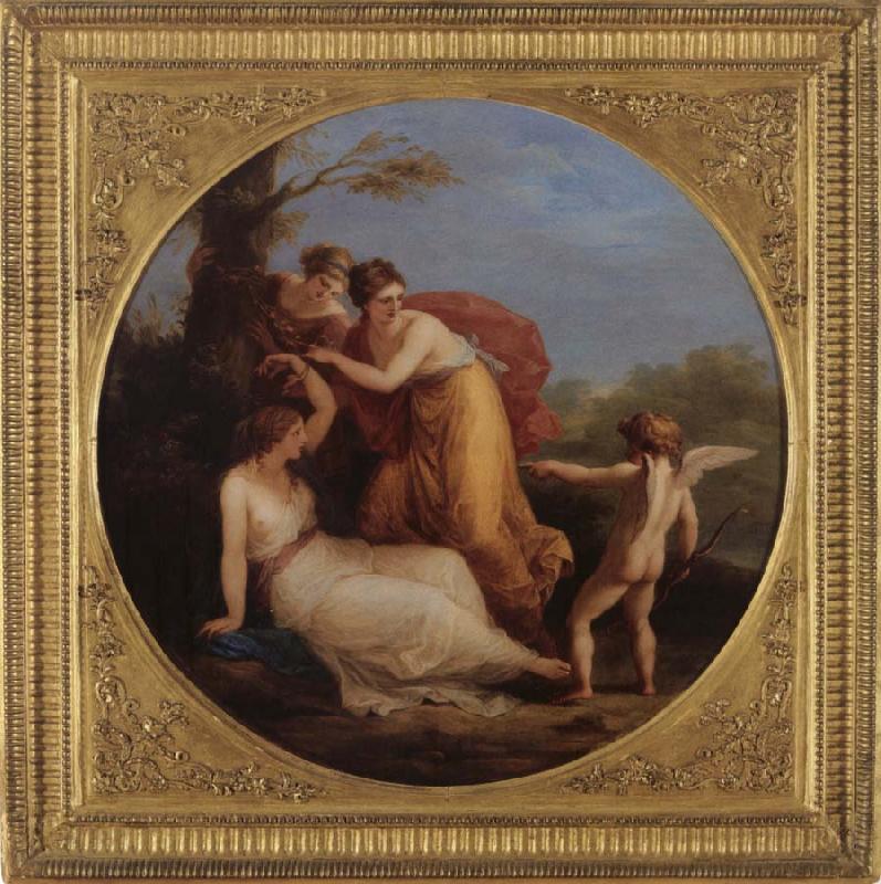 Angelica Kauffmann 1777 1 Aglaia_von_Amor_an_den_Baum_gefesselt Voralberg Museum Bregenz