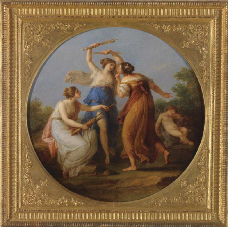 Angelica Kauffmann 1777 2 Amor wird keine Herzen mehr verfuhren Voralberg Museum Bregenz