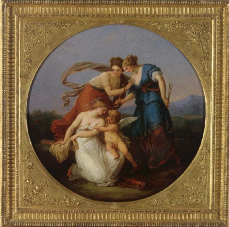 Angelica Kauffmann 1777 3 Amor Streitet mit den Grazien um Seine Pfeile Voralberg Museum Bregenz
