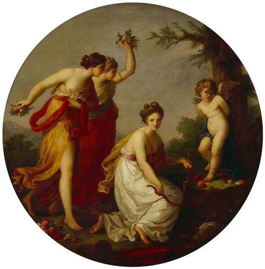 Angelica Kauffmann 1777 7 Cupid Bound by the Graces coll priv