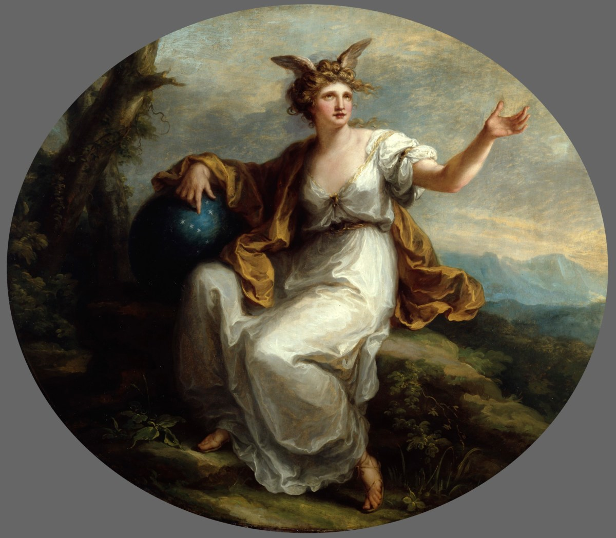 Angelica Kauffmann 1778-80d L'invention Royal Academy Collection