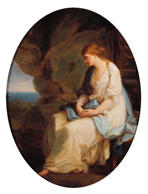 Angelica Kauffmann 1778 ca Calypso abandonnee par Ulysse AK Museum Schwarzenberg