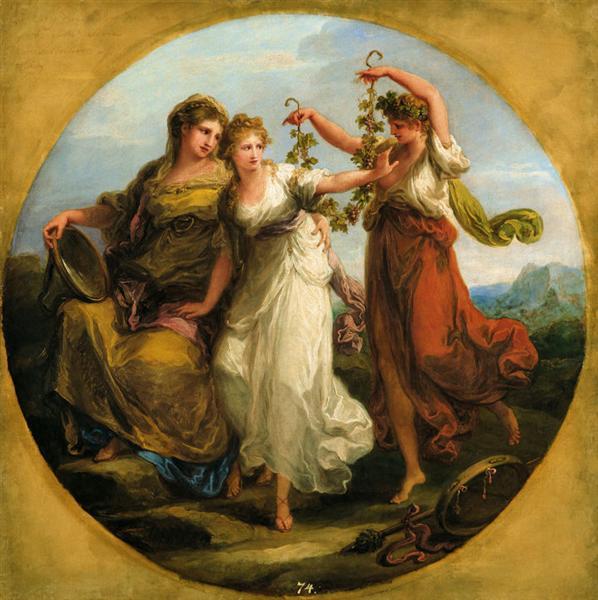 Angelica Kauffmann 1780 La beaute guidee par la prudence rejette avec mepris les sollicitations de la folie Tallin