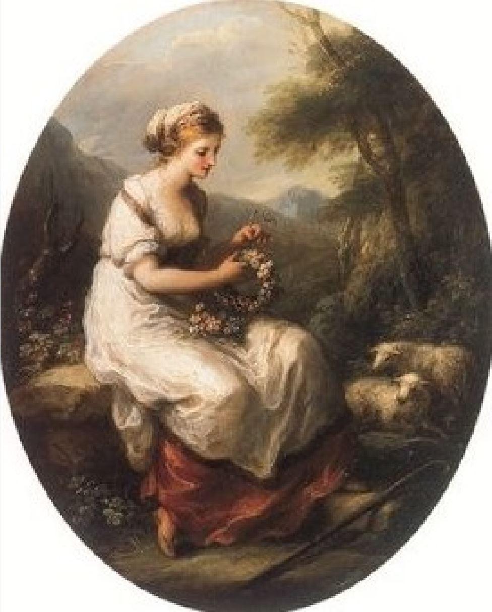 Angelica Kauffmann 1780 ca Abra Staatsgalerie, Stuttgart