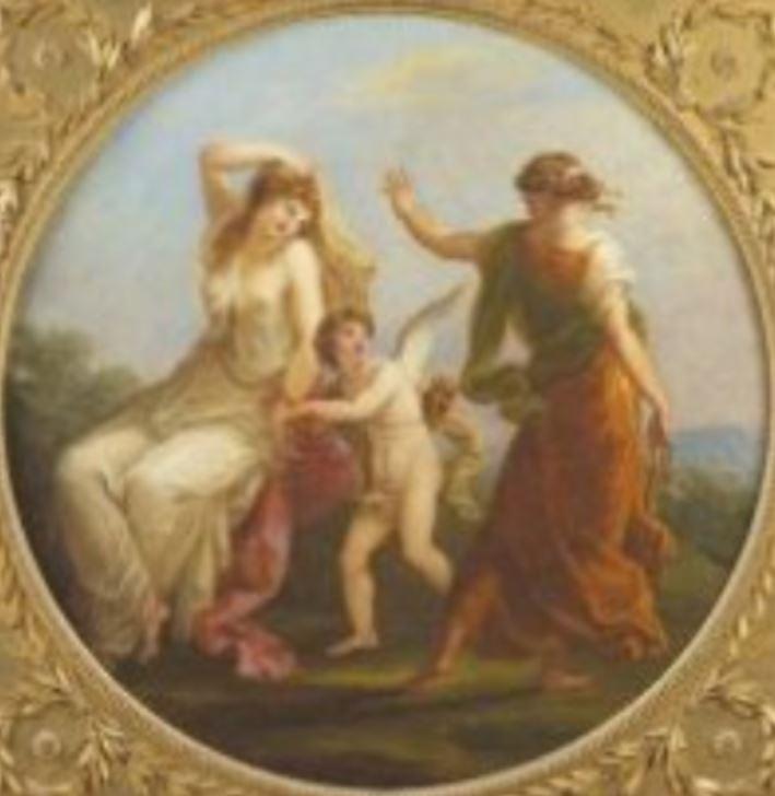 Angelica Kauffmann 1780a ca La Beaute enchainee par l'Amour et desertee par la Prudence coll priv