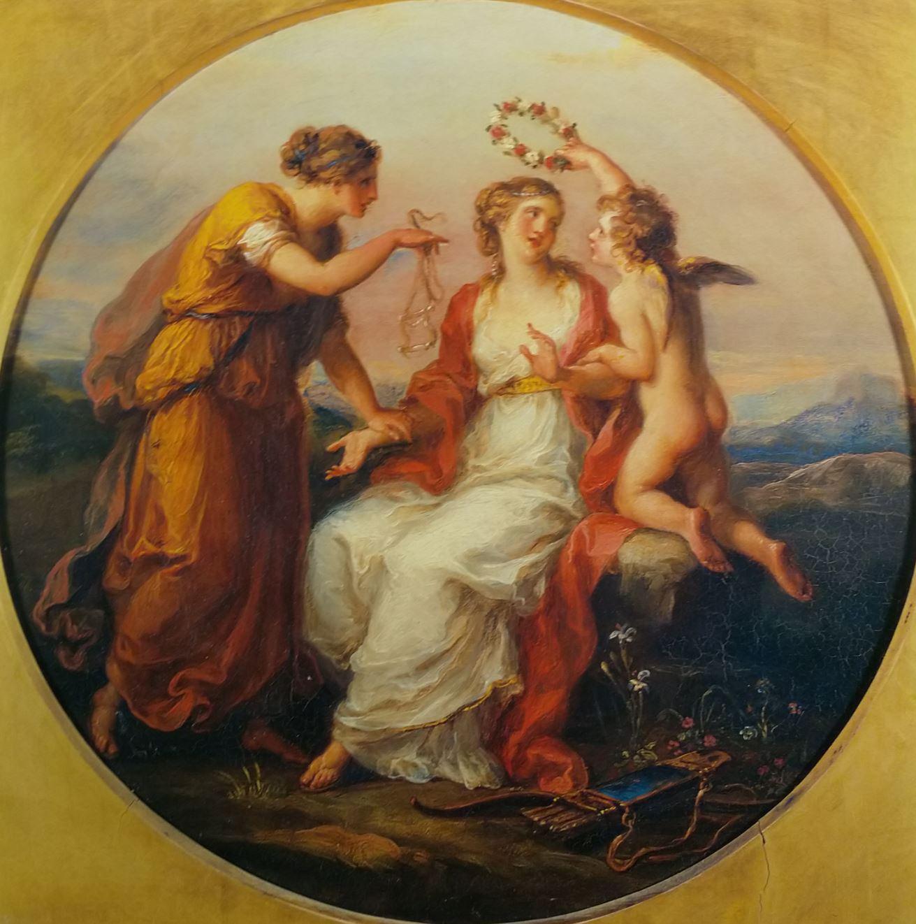 Angelica Kauffmann 1780a ca La Beaute tentee par l'Amour conseillee par la prudence coll priv
