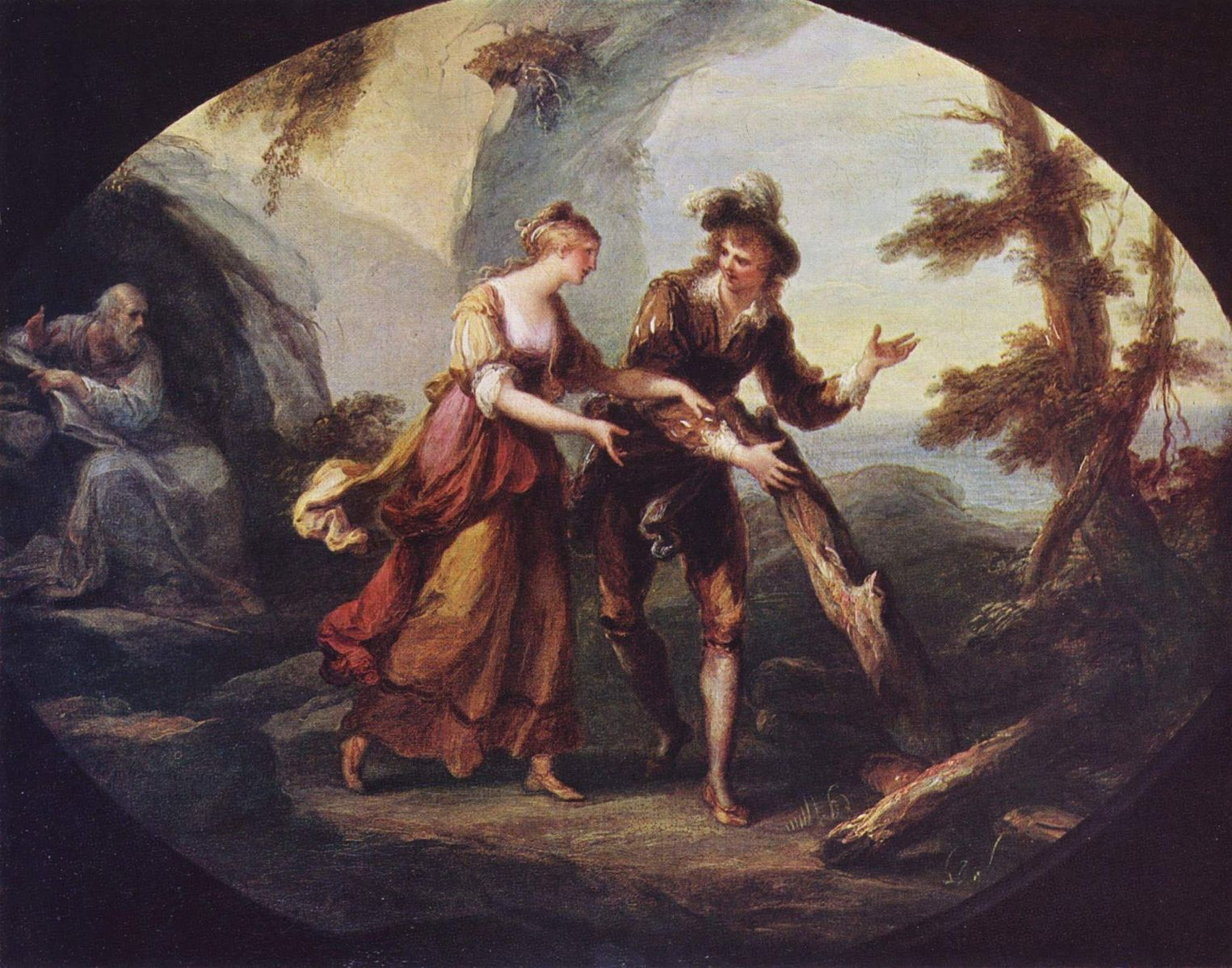 Angelica Kauffmann 1782 Scene with Miranda and Ferdinand. (Shakespeare)