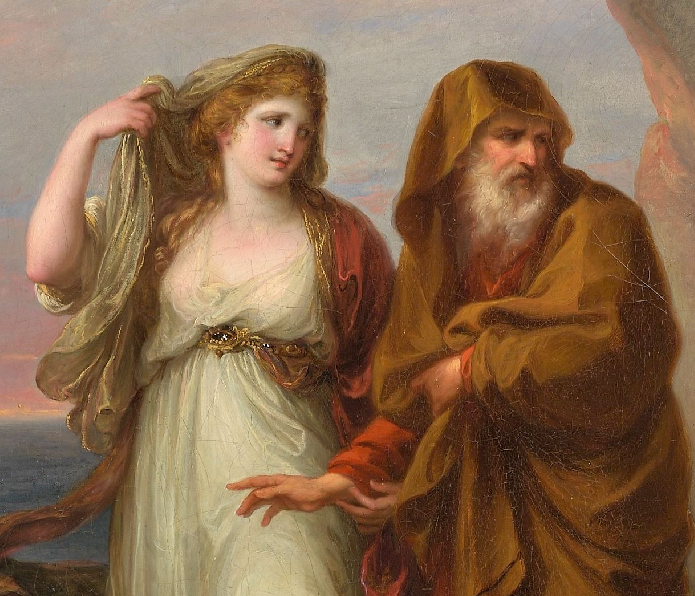 Angelica Kauffmann 1782 Telemachus and the Nymphs of Calypso MET detail Mentor