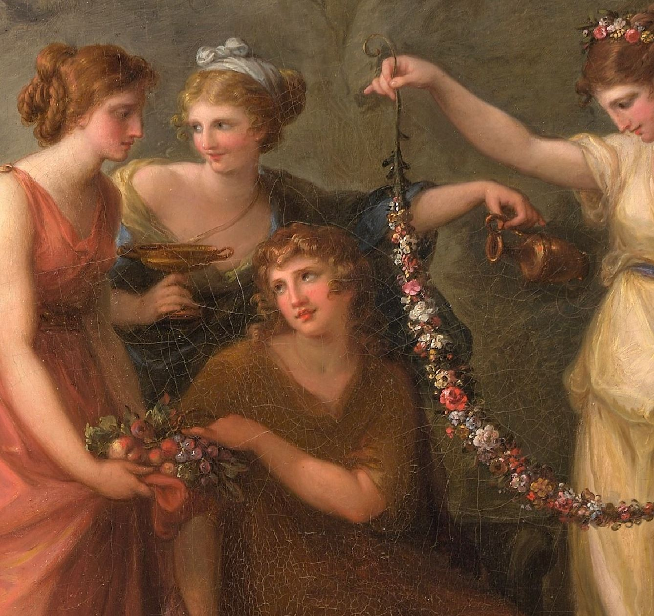 Angelica Kauffmann 1782 Telemachus and the Nymphs of Calypso MET detail Telemaque