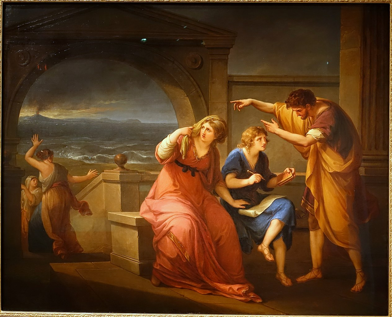 Angelica Kauffmann 1785 Bowles Pliny_the_Younger_and_his_Mother_at_Misenum,_79_A.D._103 x 127.5 Princeton_University_Art_Museum