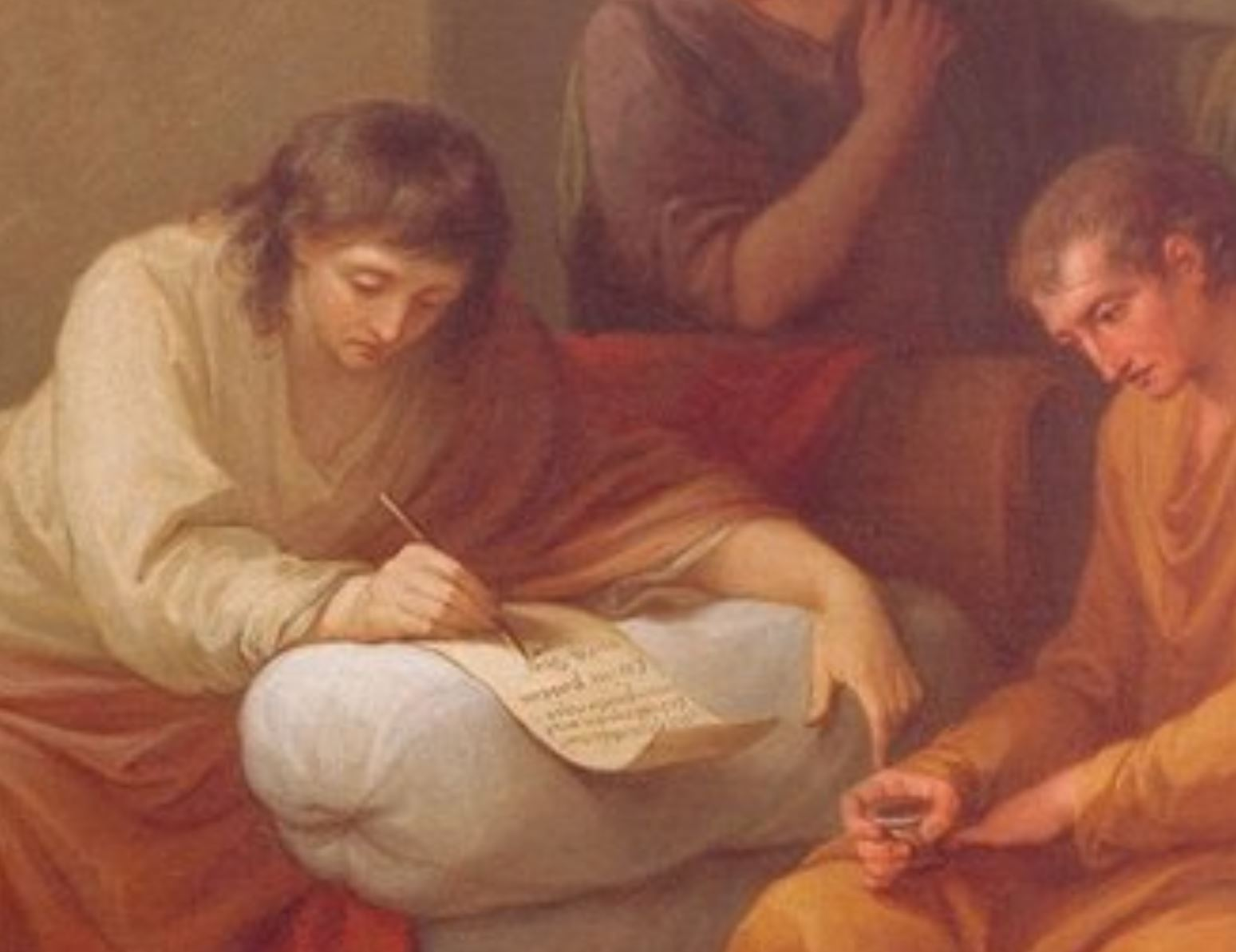Angelica Kauffmann 1785 Bowles Virgil Writing his own Epitaph at Brundisium 99 x 126 cm, Peter Walsh Collection detail