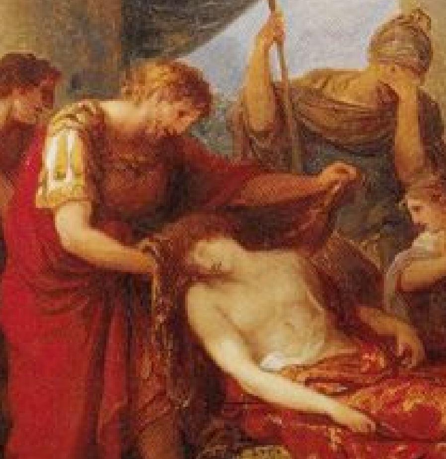 Angelica Kauffmann 1785 Enee pleure Pallas tue par Turnus Tiroler Landesmuseum Ferdinandeum, Innsbruck detail