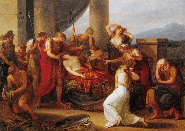 Angelica Kauffmann 1785 Enee pleure Pallas tue par Turnus Tiroler Landesmuseum Ferdinandeum, Innsbruck