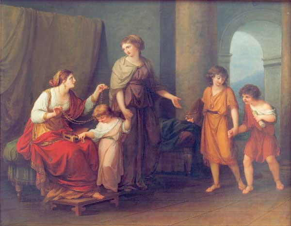 Angelica Kauffmann 1785 Maria Carolina of Naples Cornelia mere des Gracques Schlossmuseum Weimar